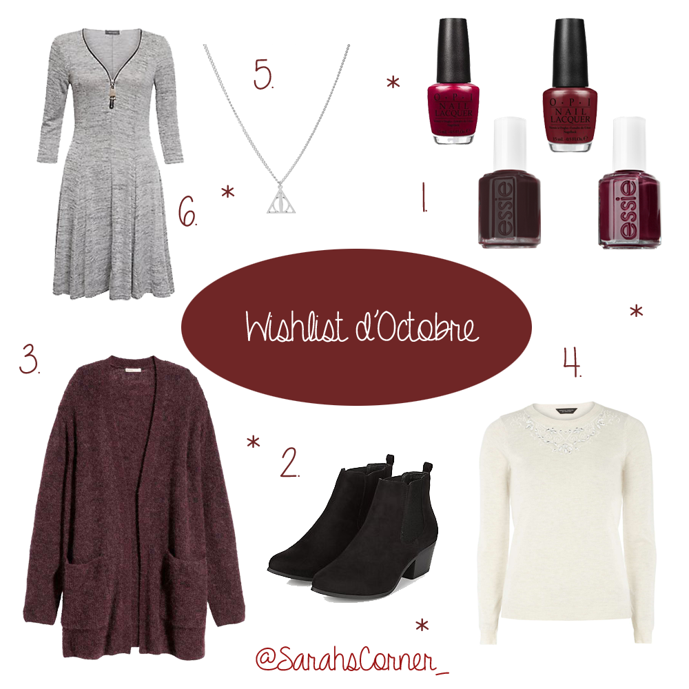 Wish list Octobre mode